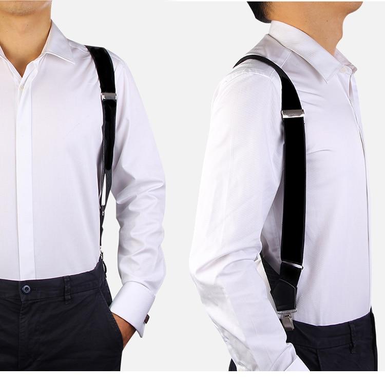 3.5cm Width Equal Gun Suspenders Orthopedic Groom Holster Suspender 2 Clip-On Braces Elastic Suspenders For Mens Male Adults
