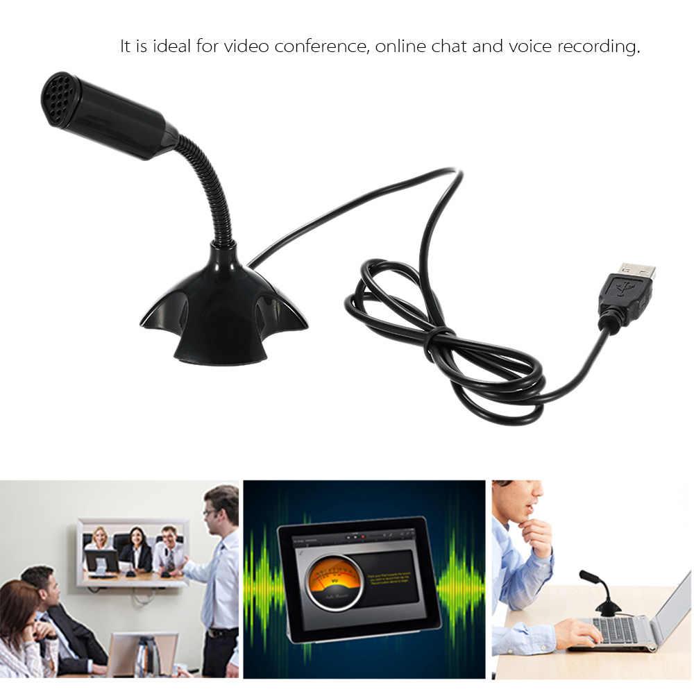 USB Desktop di Microfono Regolabile a 360 Gradi Il Supporto del Microfono Chat Vocale Registrazione Mic per il Calcolatore Del PC con una porta USB