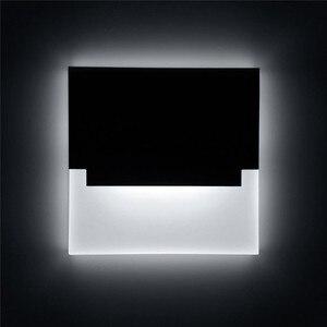 Image 1 - Lampada Đèn LED Dán Tường Đèn Acrylic Sconce Sáng Tạo Bước Đèn Footlight Hành Lang Cầu Thang Con Đường Trang Trí Đèn Tường Hiện Đại