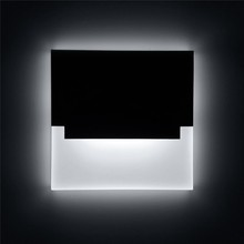 New led wall light Recessed acrylic sconce Creative step lights Footlight for Corridor Stair Pathway Modern decorative wall lamp