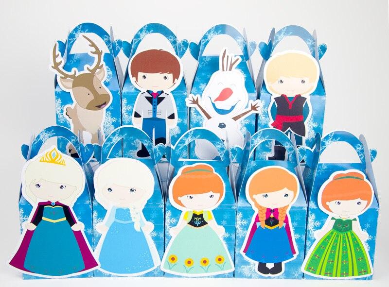Elsa Snow Queen Anna ballītes piederumi Candy Box dāvanu kastīte - Svētku piederumi
