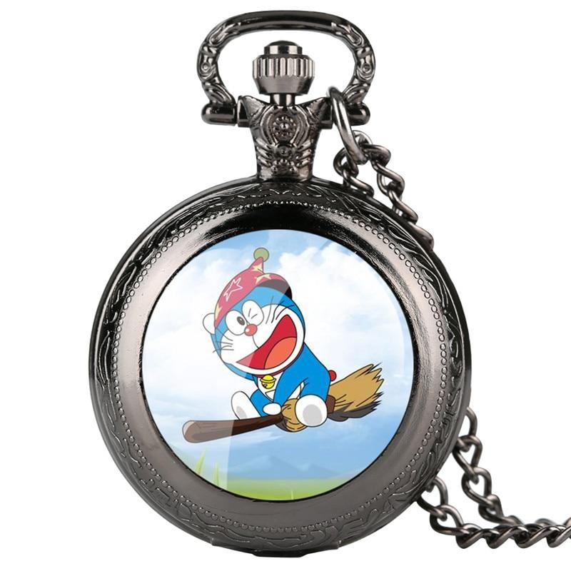 Skyrim Pokemon Pocket Watch For Kids Doraemon Pattern Quartz Pocket Watch For Students Arabic Digital Gift For Pocket Watch
