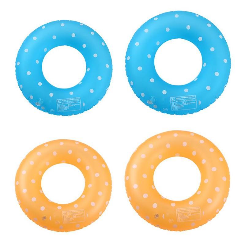 Polka Dot Swimming Ring Children Neck Armpit Pool Swim Circle Life Buoy