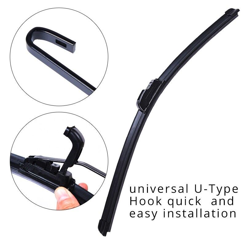 U-tipo Universal Macio Frameless Bracketless Borracha Car Windshield Wiper Blade '''' 17 16 14