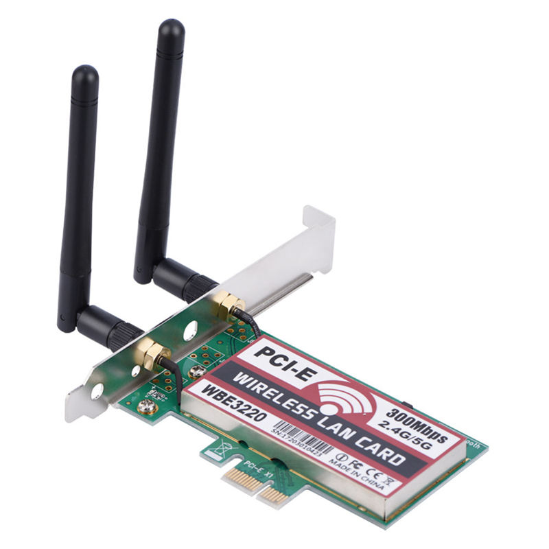 2.4G/5G 300Mbps Pci-E Dual Band Ap Wireless Wifi Wlan Adapter Wireless Access Point For Laptop Mac