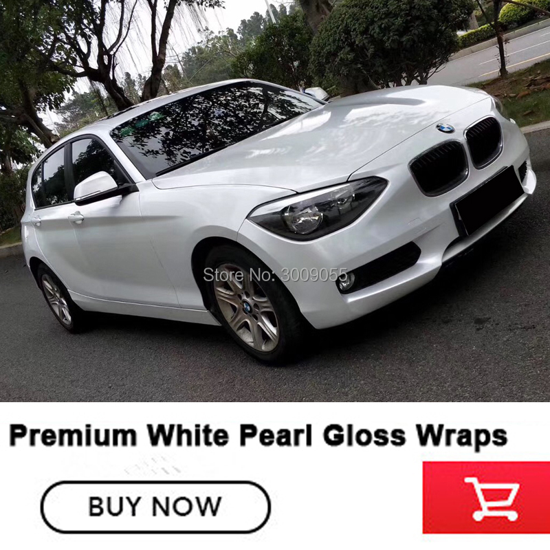Glossy Pearl White Vinyl Wrap With Air Bubble Free white glossy pearl vinyl Classic pearl vinyl