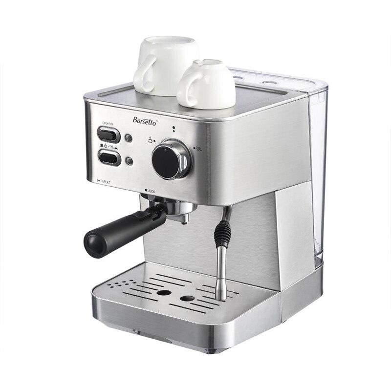 BARSETTO 15Bar Pressure Coffee Machine stainless steel household espresso coffee maker-EU PlugBARSETTO 15Bar Pressure Coffee Machine stainless steel household espresso coffee maker-EU Plug