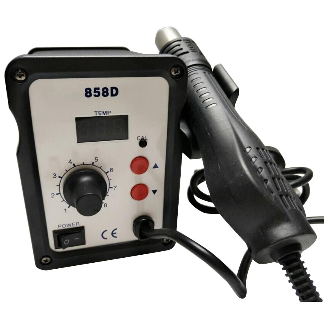 Retail 220V 240V 700W Hot Air Gun Desoldering Soldering Rework SMD Station 3 Nozzles for SMD
