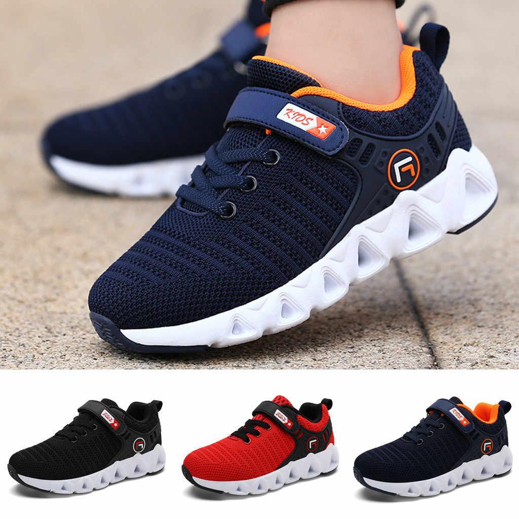 Niños niños niñas zapatillas niños zapatos Casual malla transpirable al aire libre niños zapatillas Zapatillas para correr zapatos deportivos de verano 2019