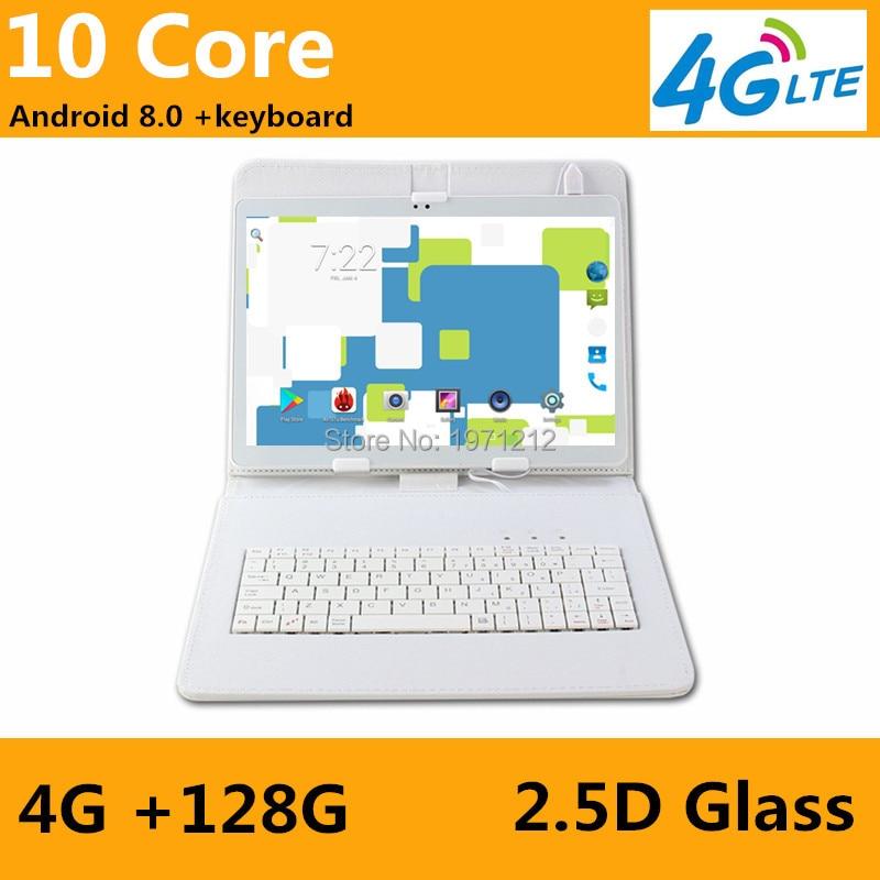 10 дюймовый планшетный ПК Deca Core 4 Гб ОЗУ 128 Гб ПЗУ две sim карты Android 8,0 gps 3g 4G FDD LTE планшетный ПК 10 10,1 + подарки + клавиатура