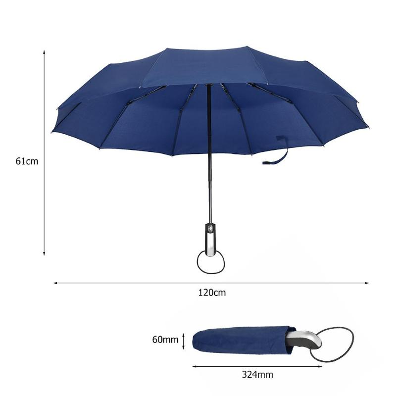 3fc171af8cf5 Wind Resistant Folding Automatic Umbrella Rain Women Auto Luxury Big  Windproof Umbrellas Rain For Men 3 Folding 10K Parasol