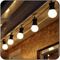 10m / 32.8ft E27 flat festoon lights belt commercial patio light stringer christmas decor E27 lamp holder chain outdoor decor