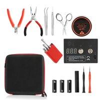 Coil Father Vape Tool Kit Combo Set Full Master DIY Kit V2 Jig Meter Tweezers Heat Wire cotton Pliers Vape Accessories 29