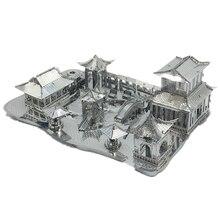 3D металлический нано-пазл Китай Сучжоу традиционный садовый конструктор Diy 3D модели наборы лазерная резка сборка головоломки игрушки