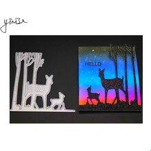 VCD58 Deer Tree CUT SCRAPBOOK Metal Cutting Dies For Scrapbooking Stencils DIY Album Cards Decoration Embossing Folder Die Cuts