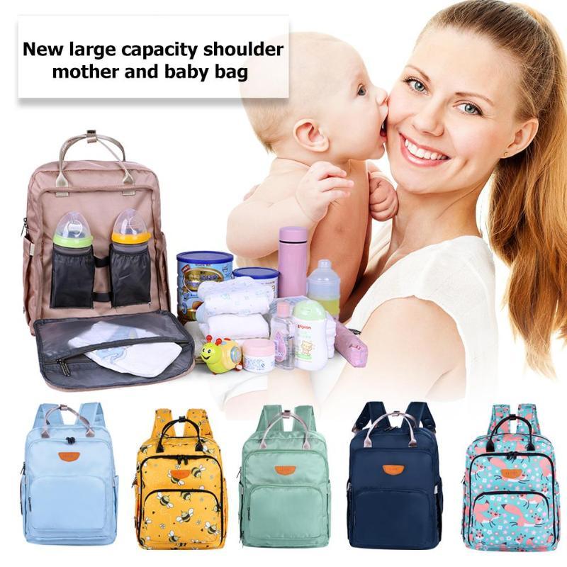Mommy Пеленки сумки детские пеленки сумка Мать большая емкость путешествия рюкзак для подгузников с анти-потери молния детские сумка для прог...