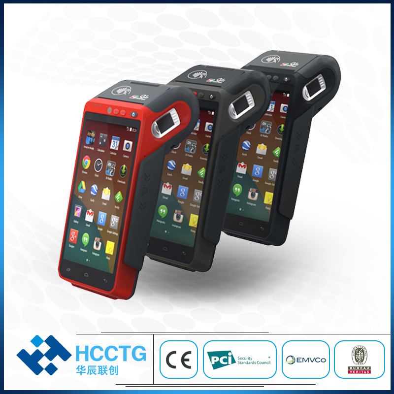 EMV Android 7 with built in thermal printer Handheld Symbol QR 1D 2D code PDA Barcode Scanner pos terminal for Restaurant Z100
