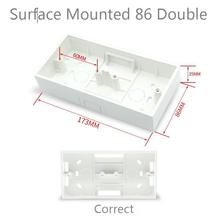 Ming Box 86 Type Double Bottom Box Switch Socket Panel Wiring Downline Combination Loading Box Two Position Connection Box