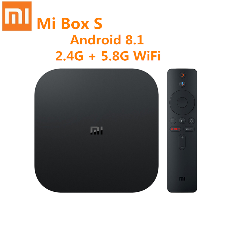 Xiaomi Mi Box S with 4K HDR Android TV Media Player Quad Core 64 bit Android 8.1 2GB 8GB HDMI2.0 2.4G 5.8G WiFi BT4.2|Set-top Boxes|   - AliExpress