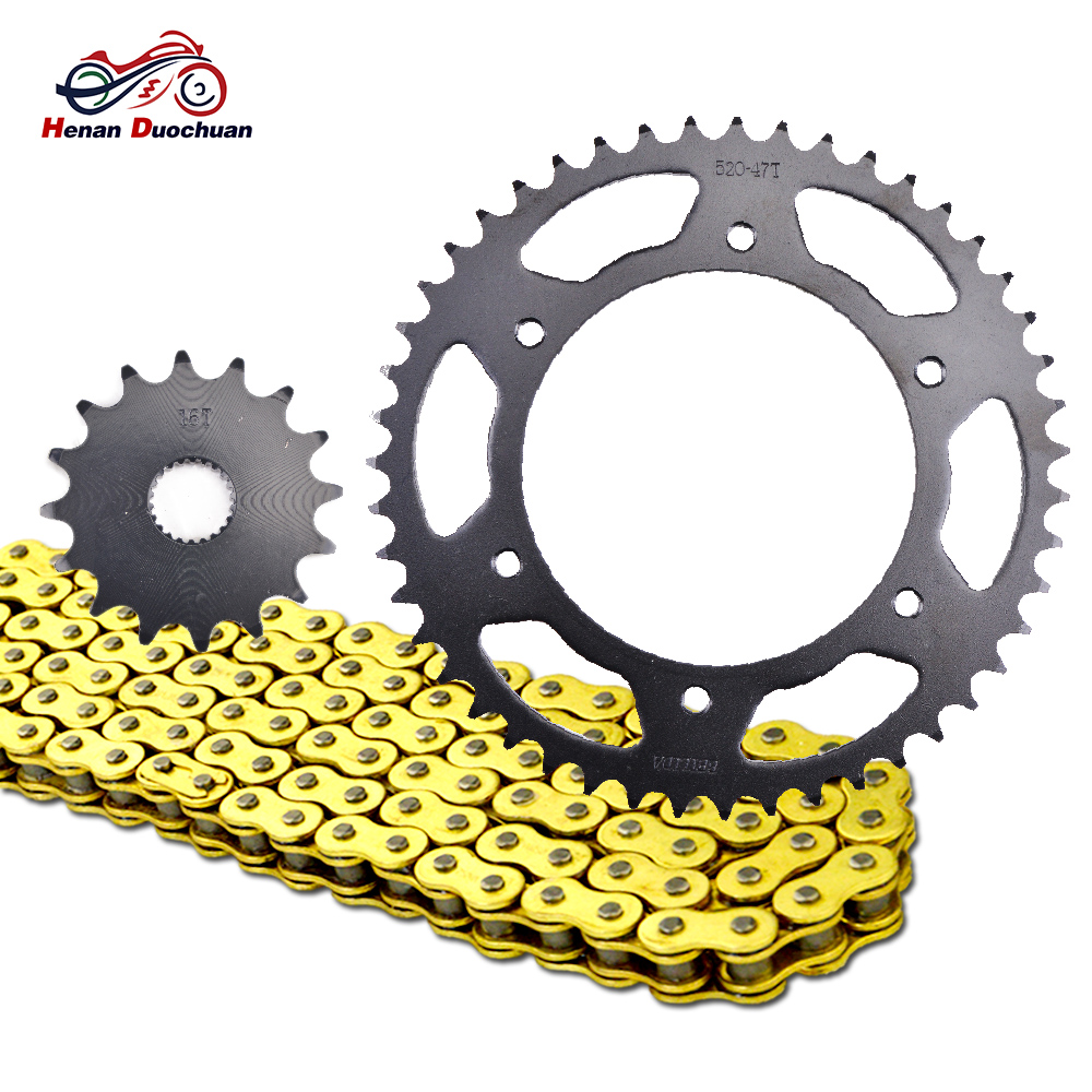 45# 520 16T 47T Motorcycle Transmission Chain And Front Rear Sprocket For BMW G650 GS Sertao 2012 2013 G650GS 2011-2015 G 650 GS