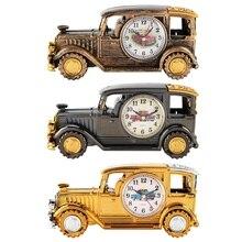 Multi-función de escritorio reloj despertador clásico vintage coche alarma reloj regalo de sostenedor de la pluma para los estudiantes suministros