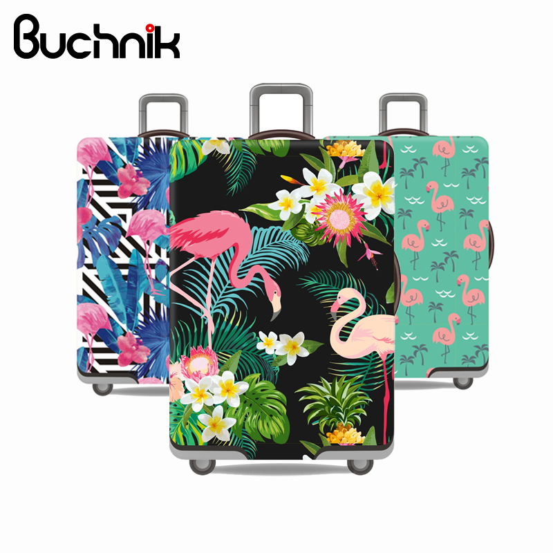 Flamingo Serie Gepäck Schutzhülle Männer der frauen Elastische Koffer Reise Fall Famale Trolley Staub Regen Taschen Zubehör