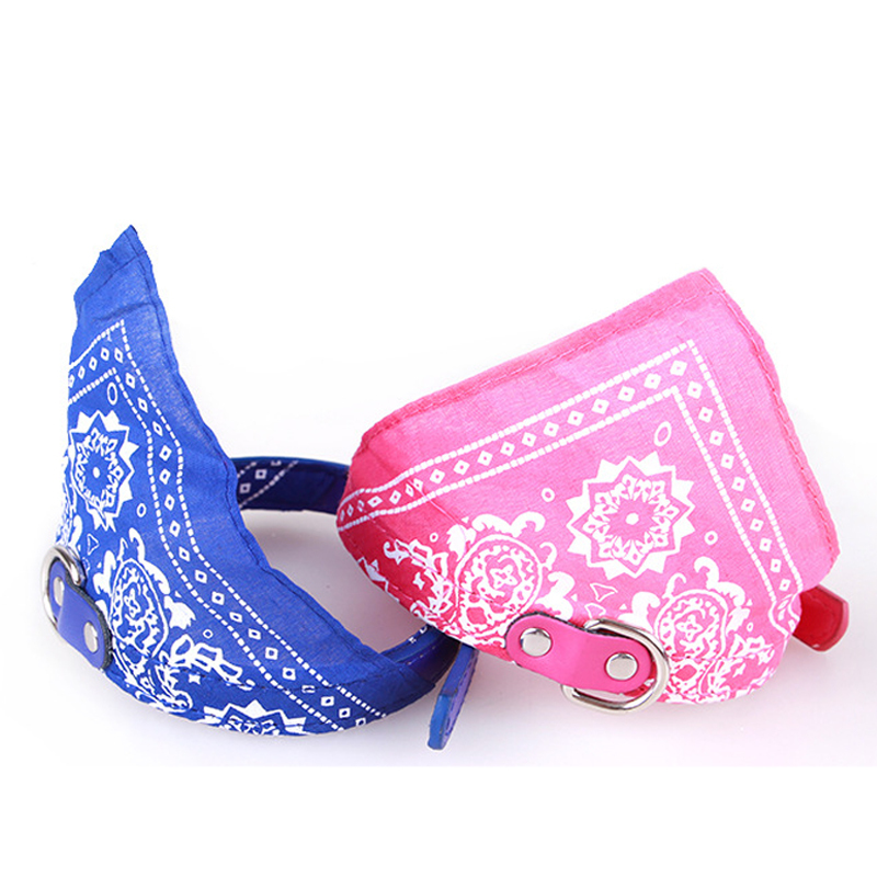 Fashion Dog Bandana Collar Katte Scarf Tie Læder Neckerchief for - Pet produkter - Foto 4