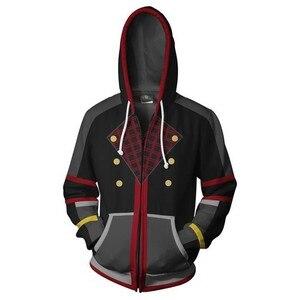Image 2 - 3D zipper hoodie kingdom heart printing Cosplay unisex sweatshirt mens hooded hoodie BIANYILONG brand custom new