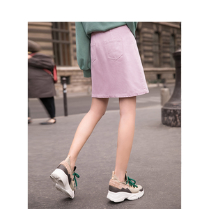Image 2 - INMAN Spring High Waist Retro Artistic Style Korean Student A Lined Chick Short Skirt