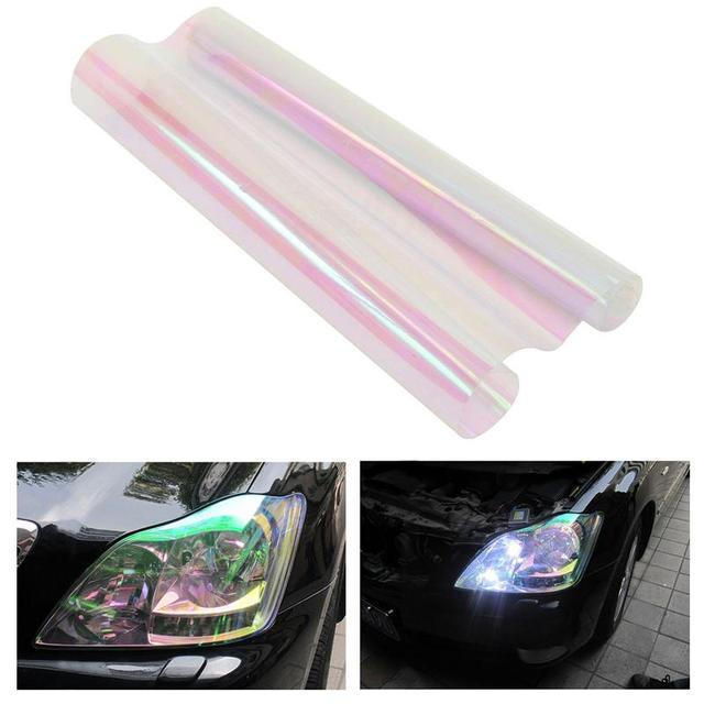 Vorcool Self-adhesive Chameleon Clear Car Van Headlights Tail Fog Lights Tint Vinyl