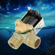 DC12V DN15 G1/2 Латунь Электрический электромагнитный клапан обычно входной переключатель воды с фильтром вправо 90 градусов угол установки Горячий