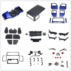 Image 2 - Demonte 12.3 inç 313mm dingil mesafesi vücut araba kabuk için 1/10 RC paletli jeep Cherokee wrangler eksenel SCX10 ve SCX10 II 90046 90047