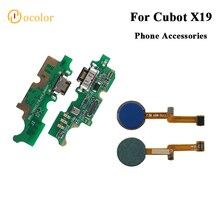 Ocolor pour Cubot X19 capteur dempreintes digitales Scannner câble flexible pour Cubot X19 pièces de rechange prise USB carte de Charge de haute qualité