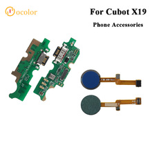 ocolor For Cubot X19 Fingerprint Scannner Sensor Flex Cable For Cubot X19 Replacement Parts USB Plug Charge Board High Quality