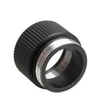 2,7 см x 2 см черное Удлинительное Кольцо Соединительный адаптер для яркого фонарика 18650 литиевая батарея держатель лампы конвертер