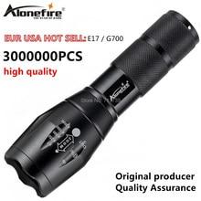Potężna latarka G700 Cree XML T6 U3 led aluminium wodoodporna Zoom latarka kempingowa latarka taktyczna AAA 18650 akumulator