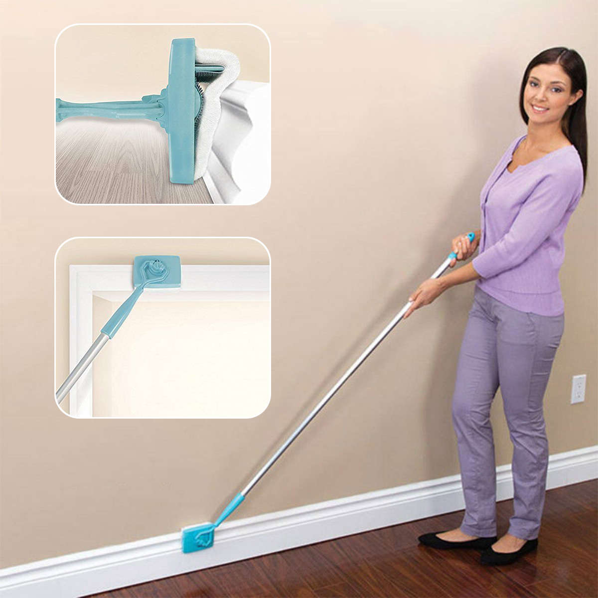 Jx Lclyl New Microfiber Baseboard Buddy Extendable Duster