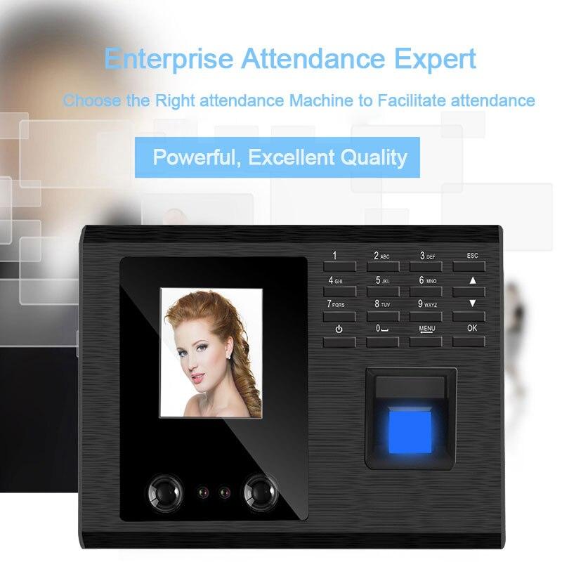 Biometric Face Facial Recognition Fingerprint Attendance System USB Reader Time Clock Employee Machine