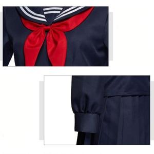 Image 5 - My Hero Academia Cosplay Costume Boku No Hero Academia Himiko Toga Women Sailor JK Uniform Mini Pleated Skirt Suit Cardigans Set