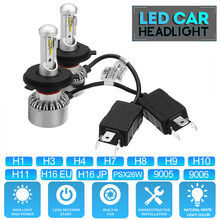 1Pair PSX24W PSX26W LED Car headlight Fog Lights Bulb 12CSP H7 H11 H1 9005 9006 Auto headlamp H4 Hi-lo beam Fog Lamp(China)
