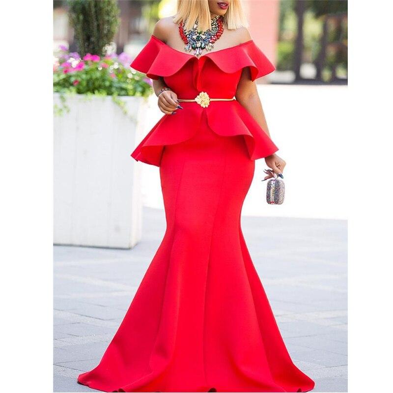 Для женщин Макси Вечерние платье поддельные комплекты из двух предметов пикантные рябить плотно элегантный праздновать ужин вечерние Клуб...