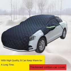 2019 zagęszczony bawełniana motyw samochodu pokrywa zima śniegoodporny Anti Frost odporny na zużycie pokrowiec na samochód w Pokrowce na samochód od Samochody i motocykle na