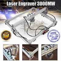 50*65cm Mini 3000MW bleu Laser gravure graveur Machine DC 12V bricolage bureau bois Cutter/imprimante/puissance réglable + Laser