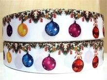 1 «мм (25 мм) Рождественские украшения Высокое качество печатных полиэстер лента 5 ярдов, DIY ручной работы материалы, свадебный подарок обёрточная