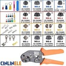 Обжимной инструмент, инструмент для обжима проволоки и сменные штампы для термоусадочных разъемов, неизолированные наконечники