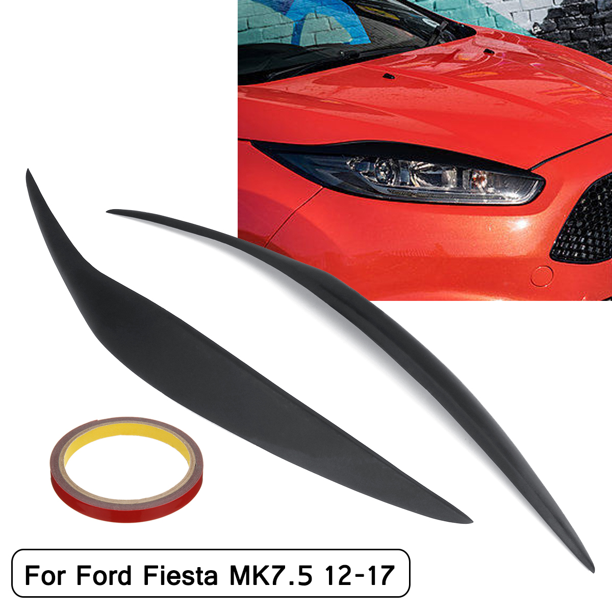 Auto Left Front Headlight Transparent Lens Cover Trim For Ford Fiesta 2009-2012