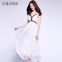 Pure Silk Dress Womens Summer Sexy Backless Beading White Maxi Dress 50s vintage Bohemian Holiday Beach Dress Female