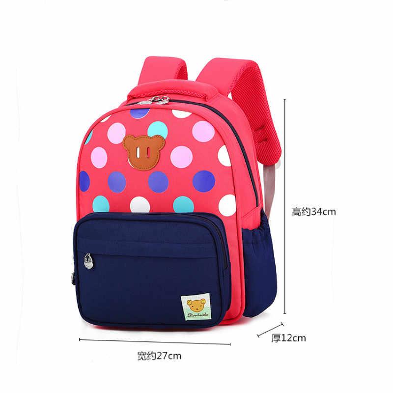 Mochila de jardín de infantes 2019 para niñas mochilas escolares impermeables ortopédicas Mochila para niños princesa saco A Dos