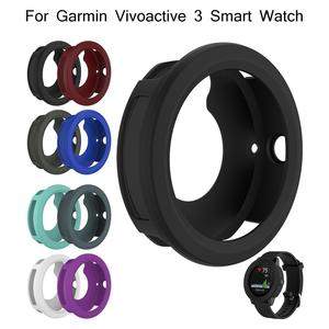 Image 5 - Silicone Protector Case Smart Watch High Quality Cover Shell 8 Colors For Garmin Vivoactive 3 Smart Watch Diameter 45.4MM