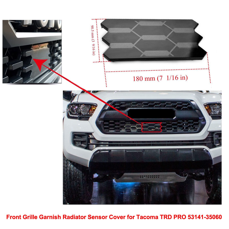 Front Grille Garnish Radiator Sensor Cover for Tacoma TRD PRO 53141 35060 Automobile Car Accessories